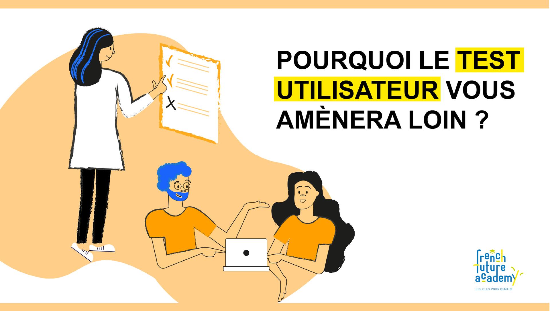 article visuel test utilisateur design thinking